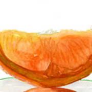 Orange Reflection Art Print