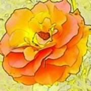 Orange Rose Art Print