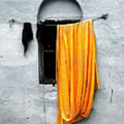 Orange Sari Art Print