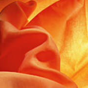 Orange Silk Art Print