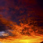 Orange Sunset 1.1 Art Print