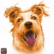 Orange Terrier Mix 2989 - Wb Art Print