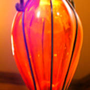 Orange Vase Art Print