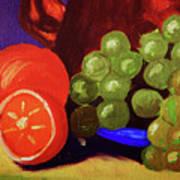 Oranges And Grapes Art Print