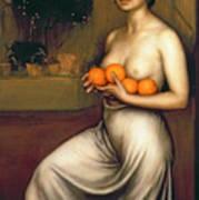 Oranges And Lemons Print by Julio Romero de Torres