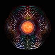 Orb Moon Rings Art Print