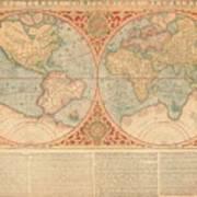 Orbis Terrae Compendiosa Descriptio  Quam Ex Magna Universali Gerardi Mercatoris Domino Richardo  Art Print