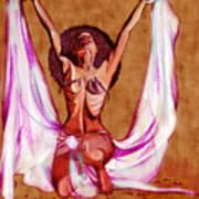 Orbs Brown Art Print