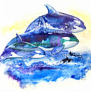 Orca Fantasy Art Print