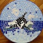 Orca Mosiac Art Print