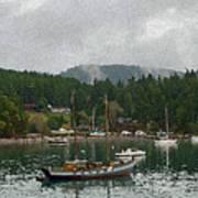 Orcas Island Digital Enhancement Art Print