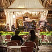 Orchestra At Ristorante Quadri On St Mark's Square - Venice Art Print