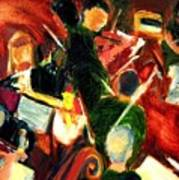 Orchestra In Abstract Art Print