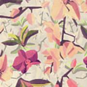 Orchid Pattern Art Print