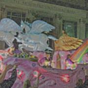 Order Of Polka Dots Emblem Float - Side View - Colored Pencil Art Print