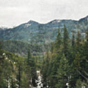 Oregon Cascade Range Art Print