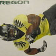 Oregon Ducks Lamichael James Art Print