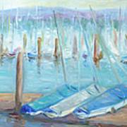 Oregon Harbor Art Print by Barbara Anna Knauf