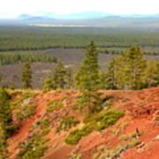 Oregon Landscape - View From Lava Butte Art Print