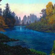 Oregon Santiam Landscape Art Print