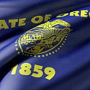 Oregon State Flag Art Print