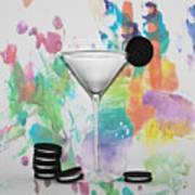Oreo Happy Hour Watercolor Bg Art Print