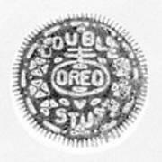 Oreo In Negetive Art Print