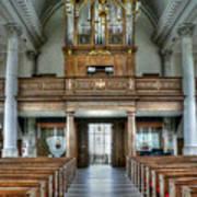Organ At St Mary Of Aldermanbury Art Print by David Bearden