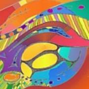 Organic Life Scan Or Cellular Light - Original, Square Art Print
