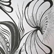 Organza Bloom Art Print