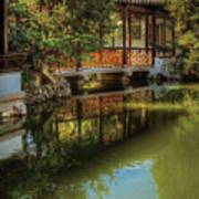 Orient - Bridge - The Chinese Garden Art Print