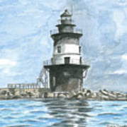 Orient Point Lighthouse Art Print