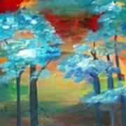 Oriental Forest Art Print
