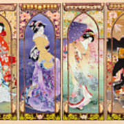 Oriental Gate Multi-pic Art Print