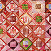 Oriental Patchwork Tapestry Art Print