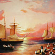 Oriental Sailor Chiefs Gathered For A Meeting On The Shores Of The Black Sea Art Print