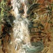 Oriental Waterfall Art Print