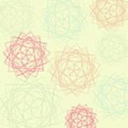 Origami Blooms Art Print