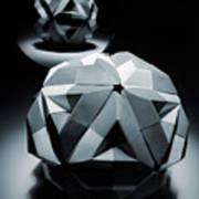 Origami Paper Sphere Art Print