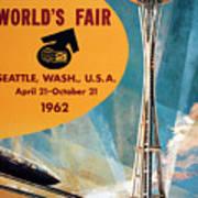 Original 1962 Seattle Worlds Fair Promotion Art Print