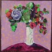 Original Bouquetaday Floral Painting 12x12 On Canvas, By Elaine Elliott, 59.00 Incl. Shipping Art Print