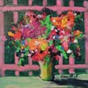 Original Bouquetaday Floral Painting By Elaine Elliott 59.00 Incl Shipping 12x12 On Canvas Art Print