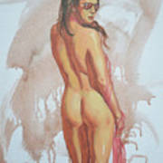 Original Impression Oil Painting Art Female Nude Girl Body On Canvas 10 07 03 Painting By Hongtao Huang