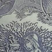 Original Linoleum Block Print Art Print
