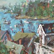 Original Modern Abstract Maine Landscape Painting Art Print
