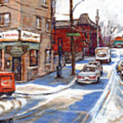 Original Montreal Paintings For Sale Tableaux De Montreal A Vendre Pointe St Charles Scenes Art Print