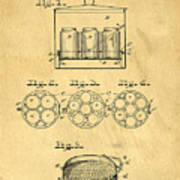 Original Patent For Canning Jars Art Print