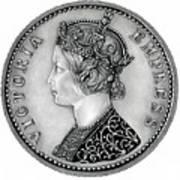 Original Silver Victoria Empress Art Print