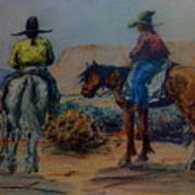 Original Western Artwork 23 Art Print