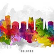 Orlando Florida Cityscape 13 Art Print